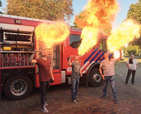 brandweer dorst vuurspuwen